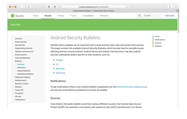 Security Bulletins Google