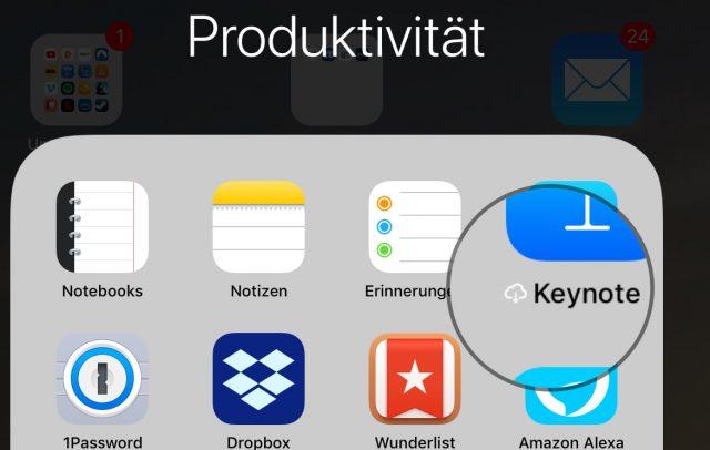 Ausgelagerte iOS-App