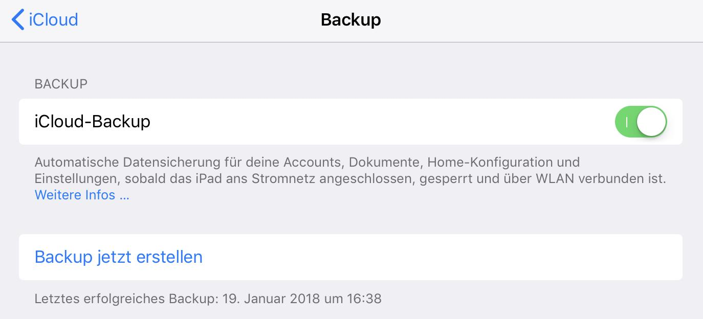 Der größte Vorteil ist das iCloud-Backup.