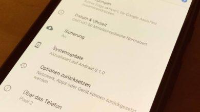 Bild von Android-Version und Sicherheitspatch-Level herausfinden
