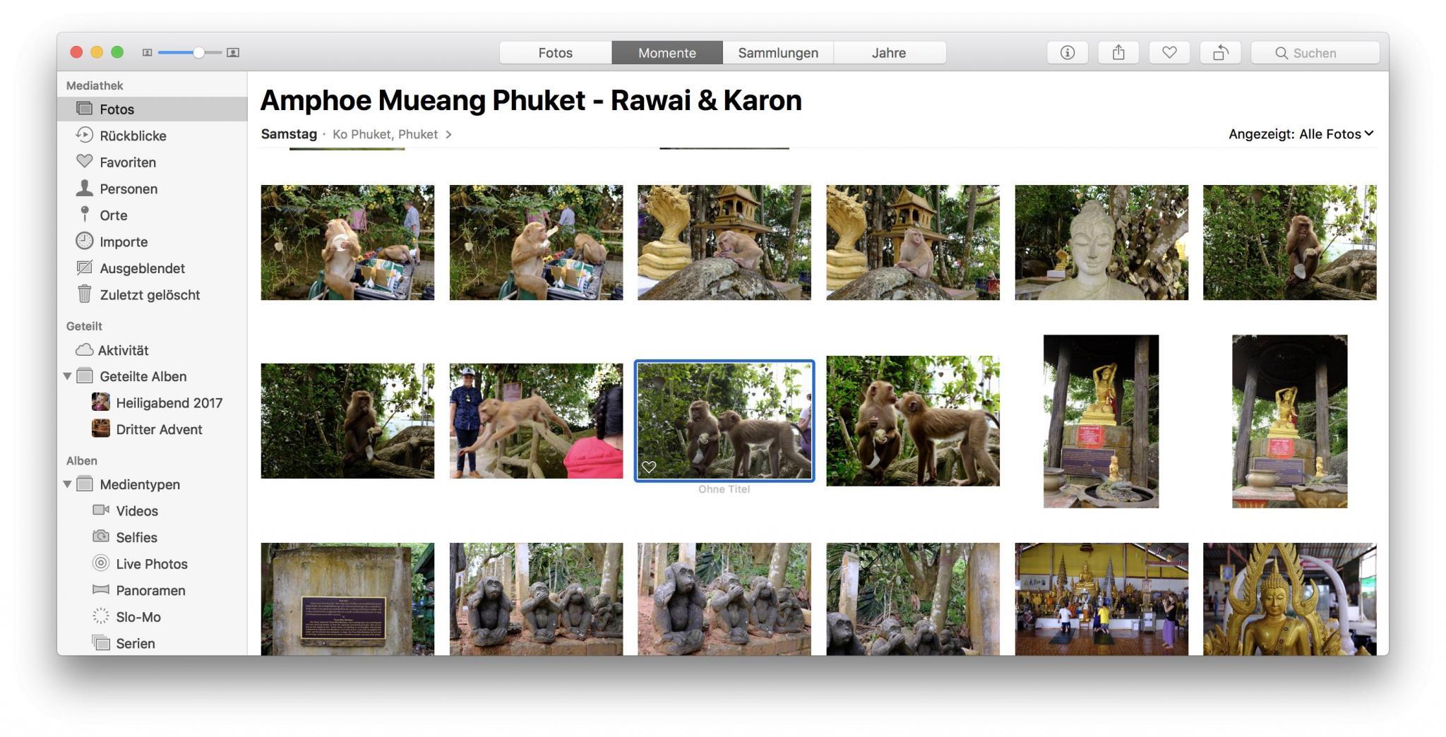Nach dem Import sind alle Bilder wieder an ihrem Platz – aber ohne die RAW-Dateien.