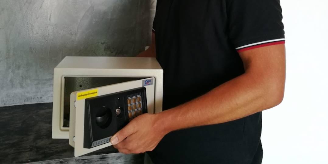 Immerhin passt ein iPad Pro in jeden Safe.