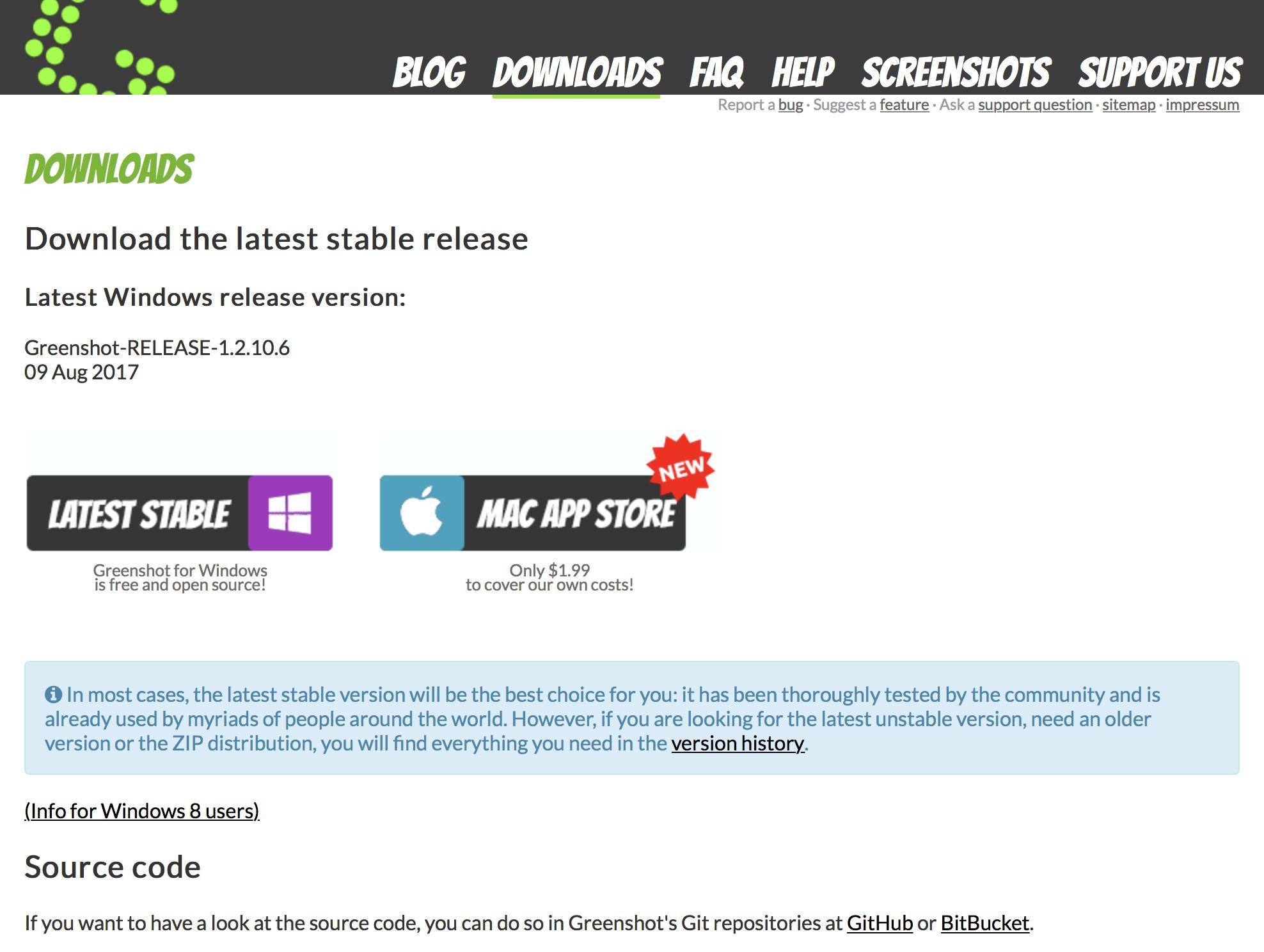 Mit Greenshot erstellt Ihr komfortabel Screenshots unter Windows. Ihr ladet das Tool am besten über die Hersteller-Website.