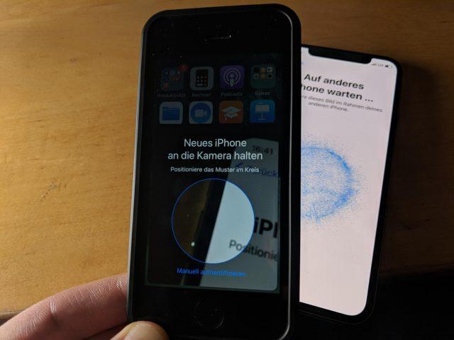 iOS 11 Muster scannen