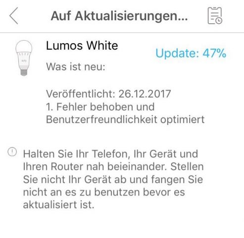 Eufy Lumos Firmware-Update
