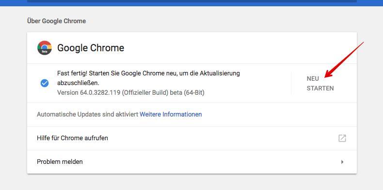 Chrome öffnet Keine Links
