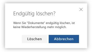 Bild von Anleitung: Dateien endgültig aus OneDrive löschen