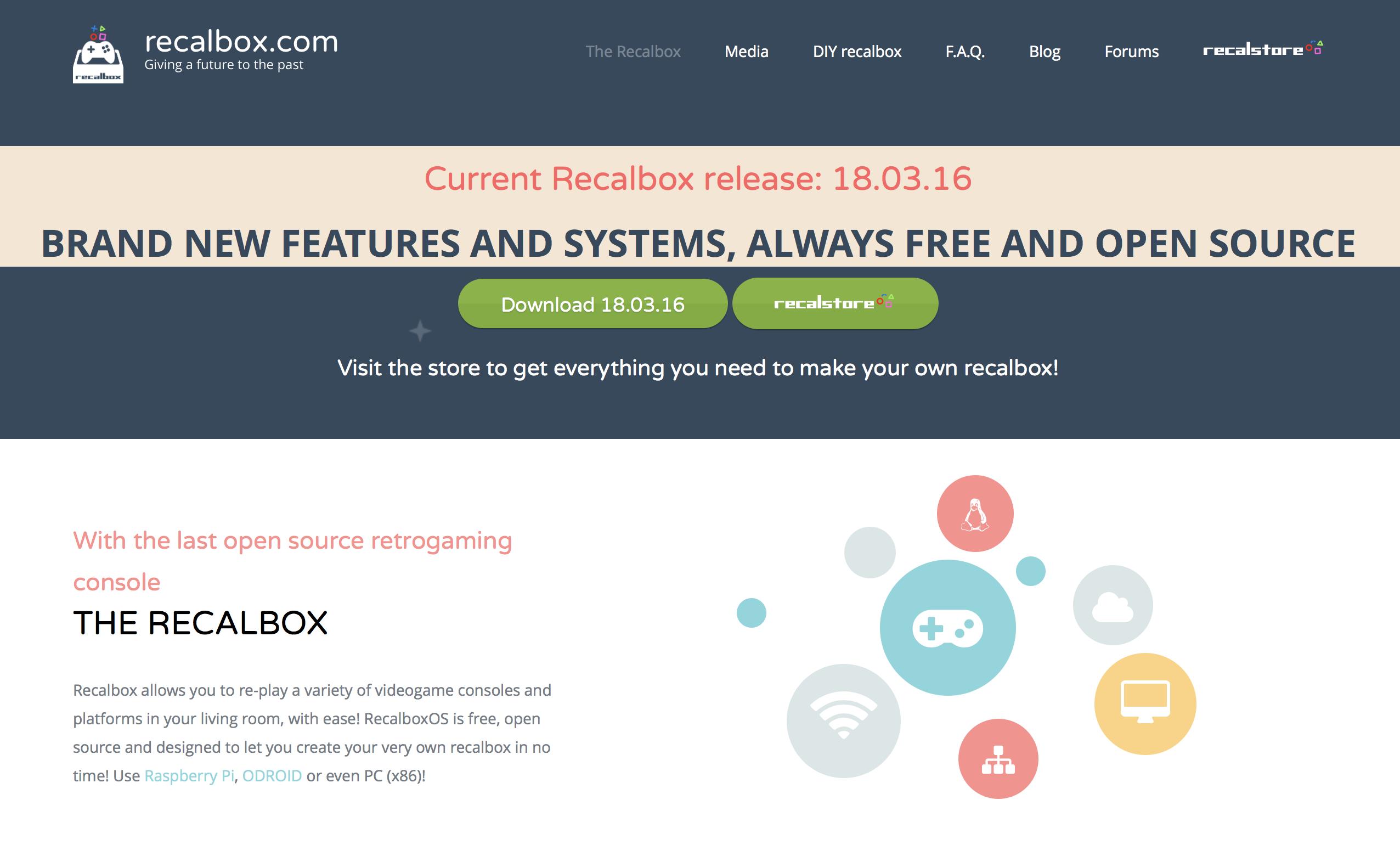 Recalbox kann auf der Entwicklerwebsite heruntergeladen werden.