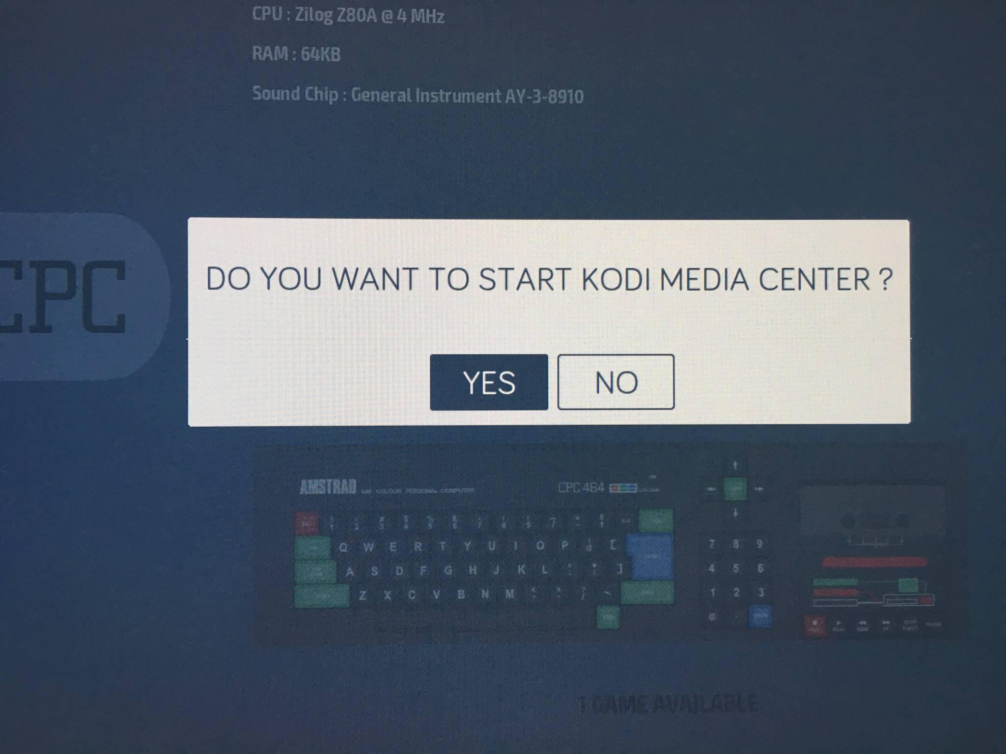 Kodi könnt Ihr bequem aus der Recalbox-Oberfläche starten.