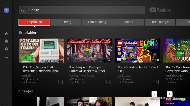 YouTube auf dem Fire TV