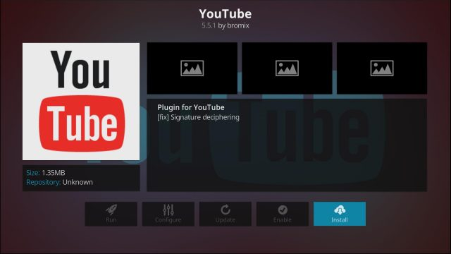 YouTube Kodi