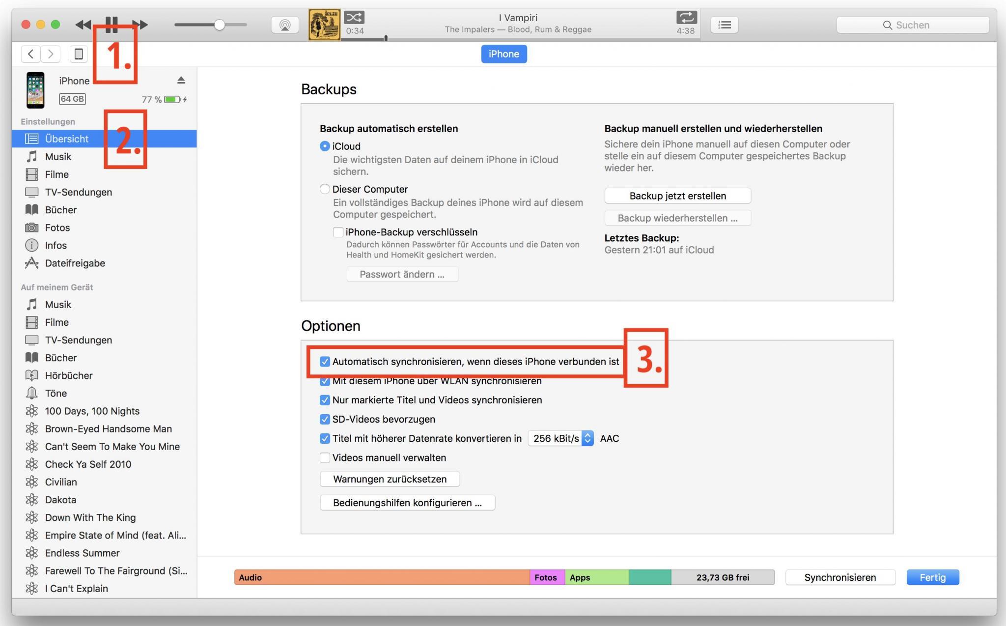 Den iTunes-Autostart müsst Ihr für jedes Gerät einzeln deaktivieren.