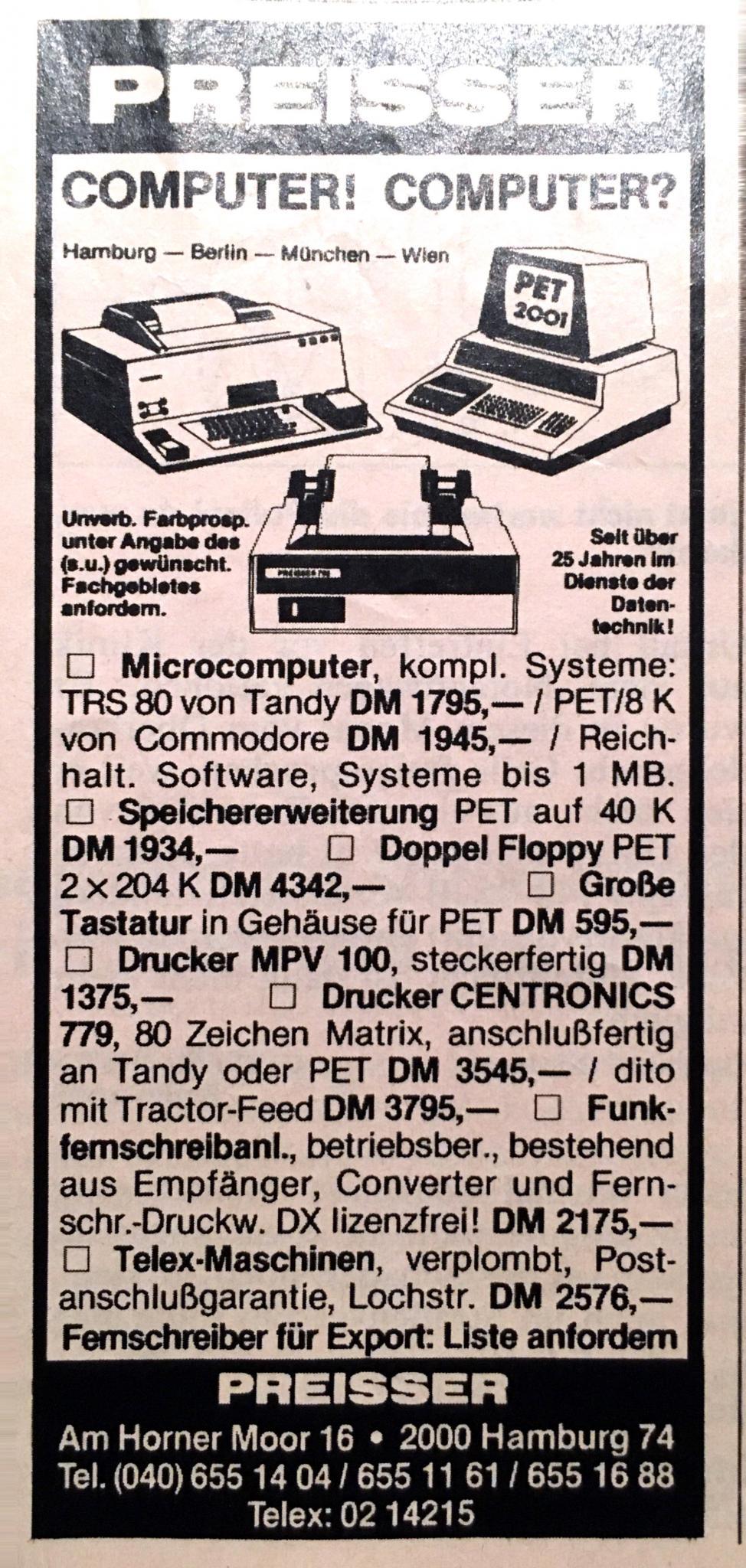 Computerpreise 1979. Schmerzhaft.