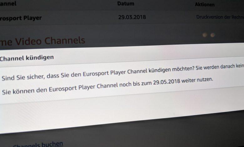 Eurosport Player Abo kündigen