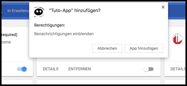 Chrome App installieren