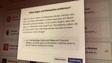 Bild von Anleitung: Verbundene Facebook-Apps einfacher löschen und verwalten