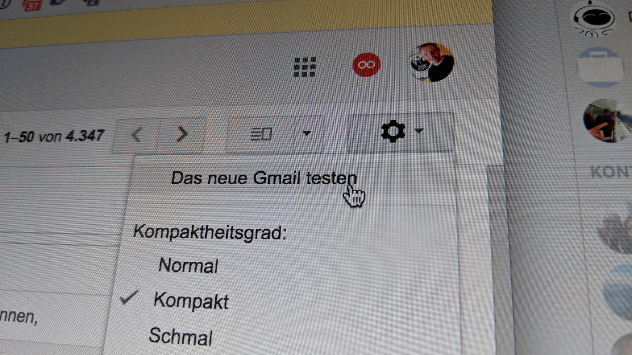 Gmail neue Funtkionen