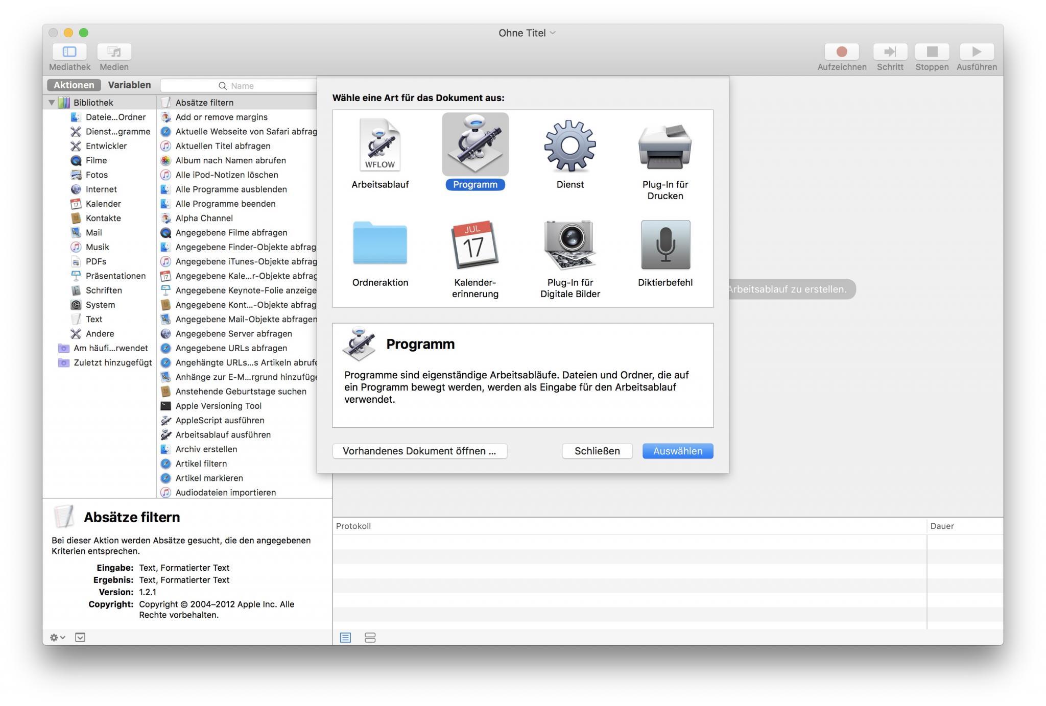 Mit Automator baut Ihr einfach einen PNG-JPEG-Converter für MacOS.