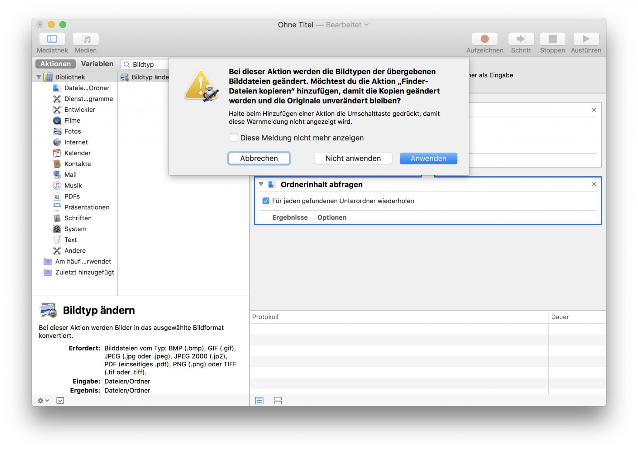 Die Dateien müssen nicht kopiert werden.