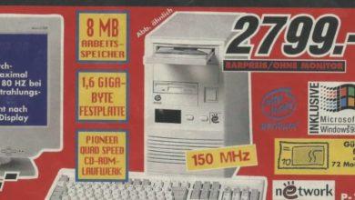 Photo of Alte Werbung: Was Computer früher gekostet haben