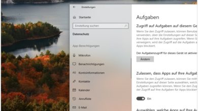 Bild von Windows 10 April-Update: Transparenz deaktivieren