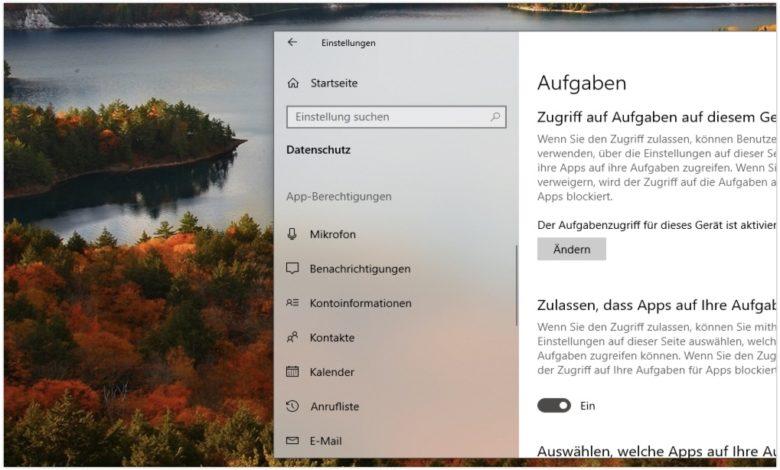 Windows 10 Transparenz