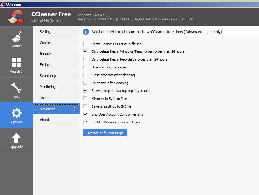 CCleaner: Machte früher Windows flüssig, ist jetzt überflüssig.