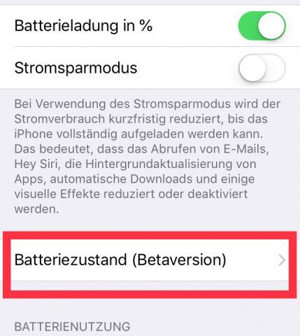 iPhone Akkustatus prüfen
