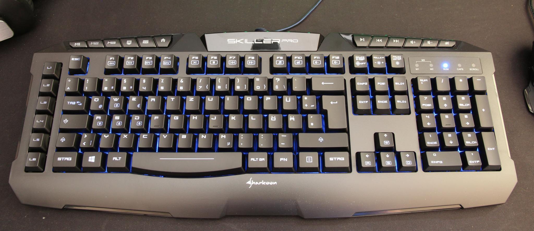 sharkoon tastatur-beleuchtung