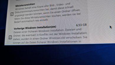 Bild von Windows 10 April Update: Speicherplatz nach Installation freigeben