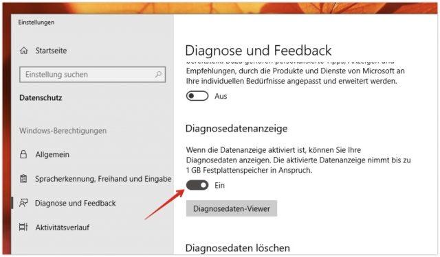 Windows 10 Diagnosedaten