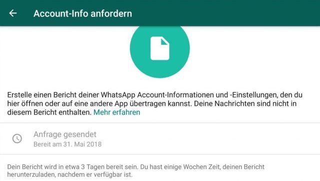 WhatsApp Daten exportieren
