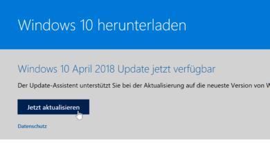 Bild von Anleitung: April 2018 Update für Windows 10 herunterladen und installieren