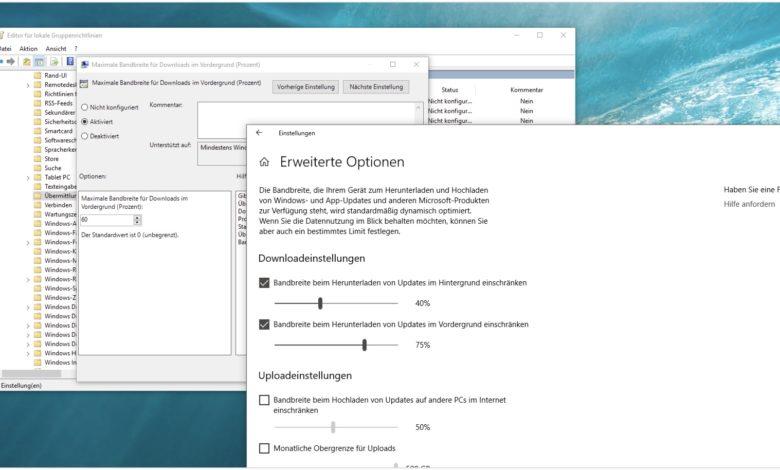 Windows Updates lahmes internet