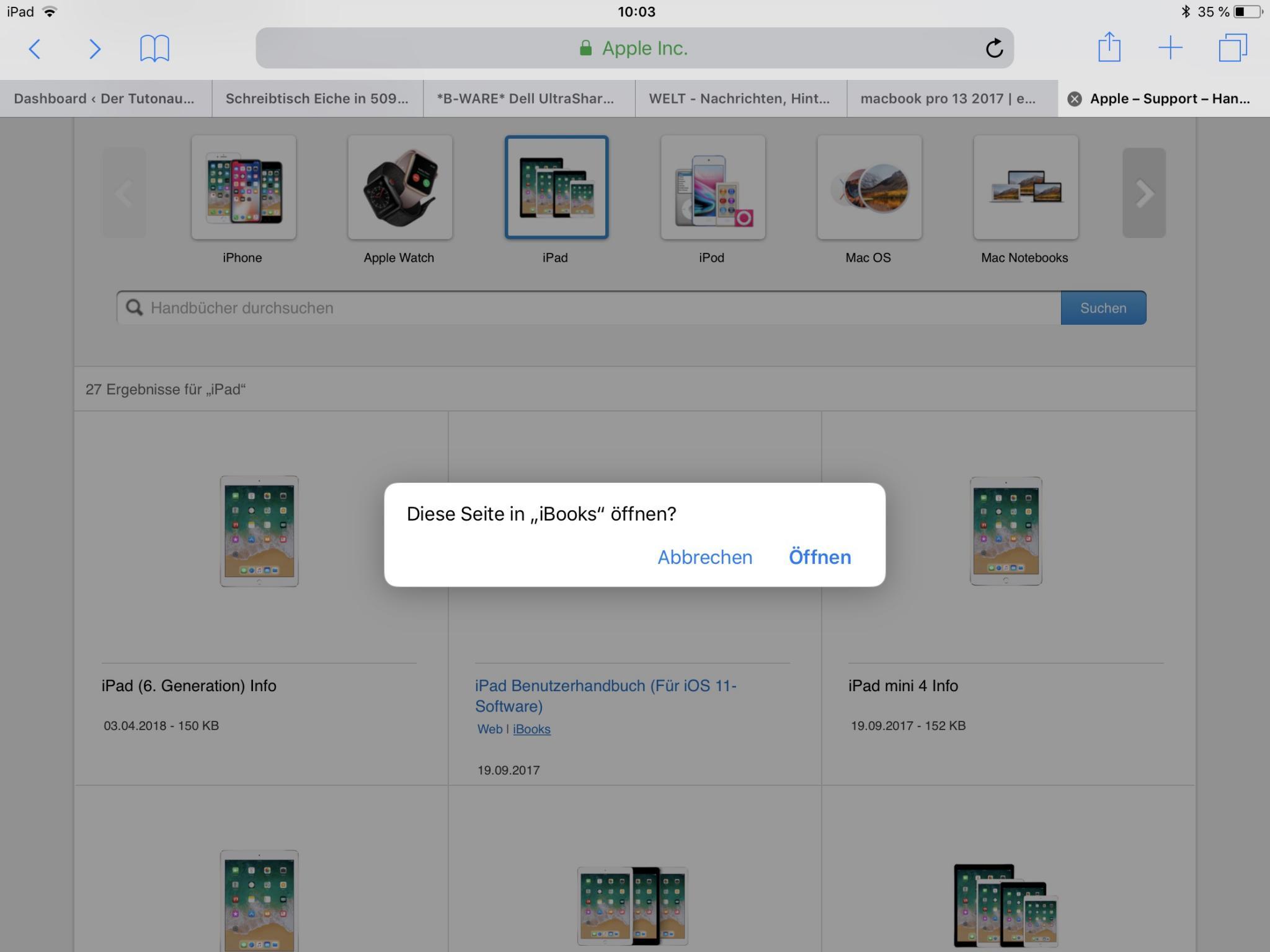 Der Link öffnet die iBooks-App.