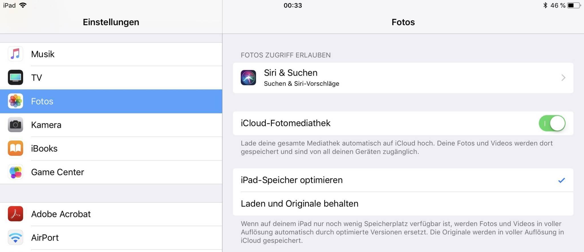 Das geht natürlich auch unter iOS.