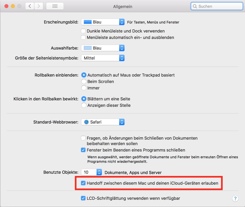 Auf dem Mac ist die Aktivierung ähnlich simpel.