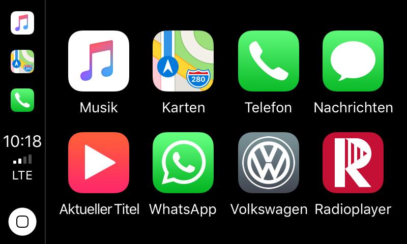 Die RadioPlayer-App taucht automatisch im CarPlay-Menü auf.