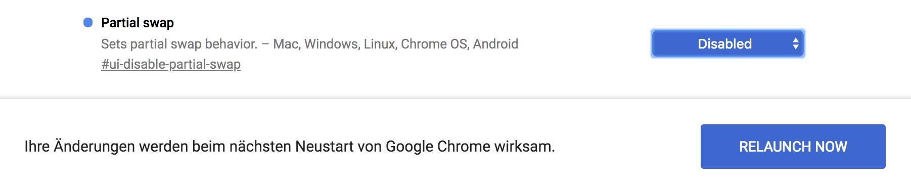 """Mit """"Relaunch Now"""" startet Ihr den Browser neu und übernehmt die Einstellungen."""