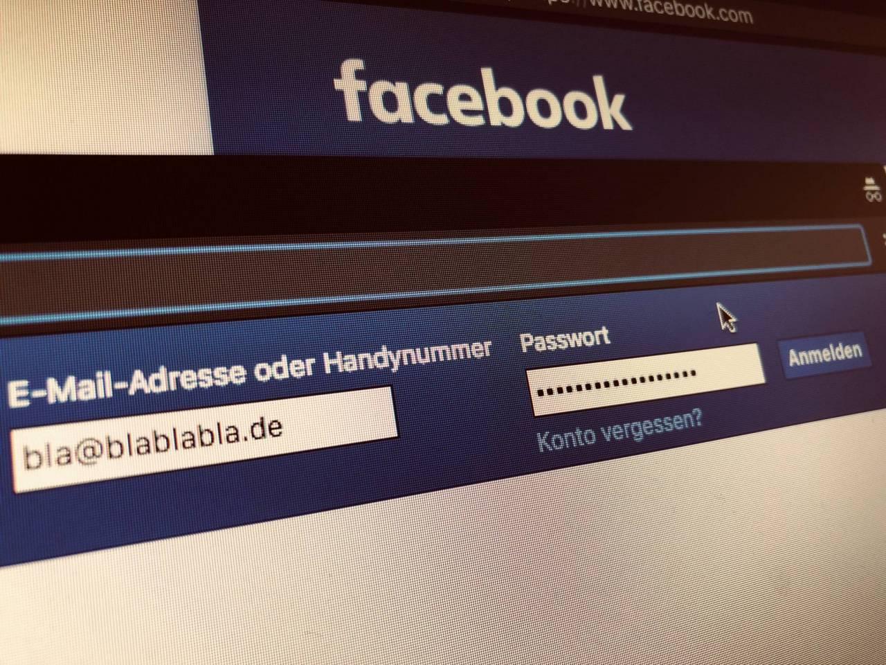 facebook passwort und email passwort vergessen