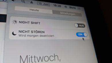 """Bild von Anleitung: Den """"Nicht stören""""-Modus von macOS nutzen"""