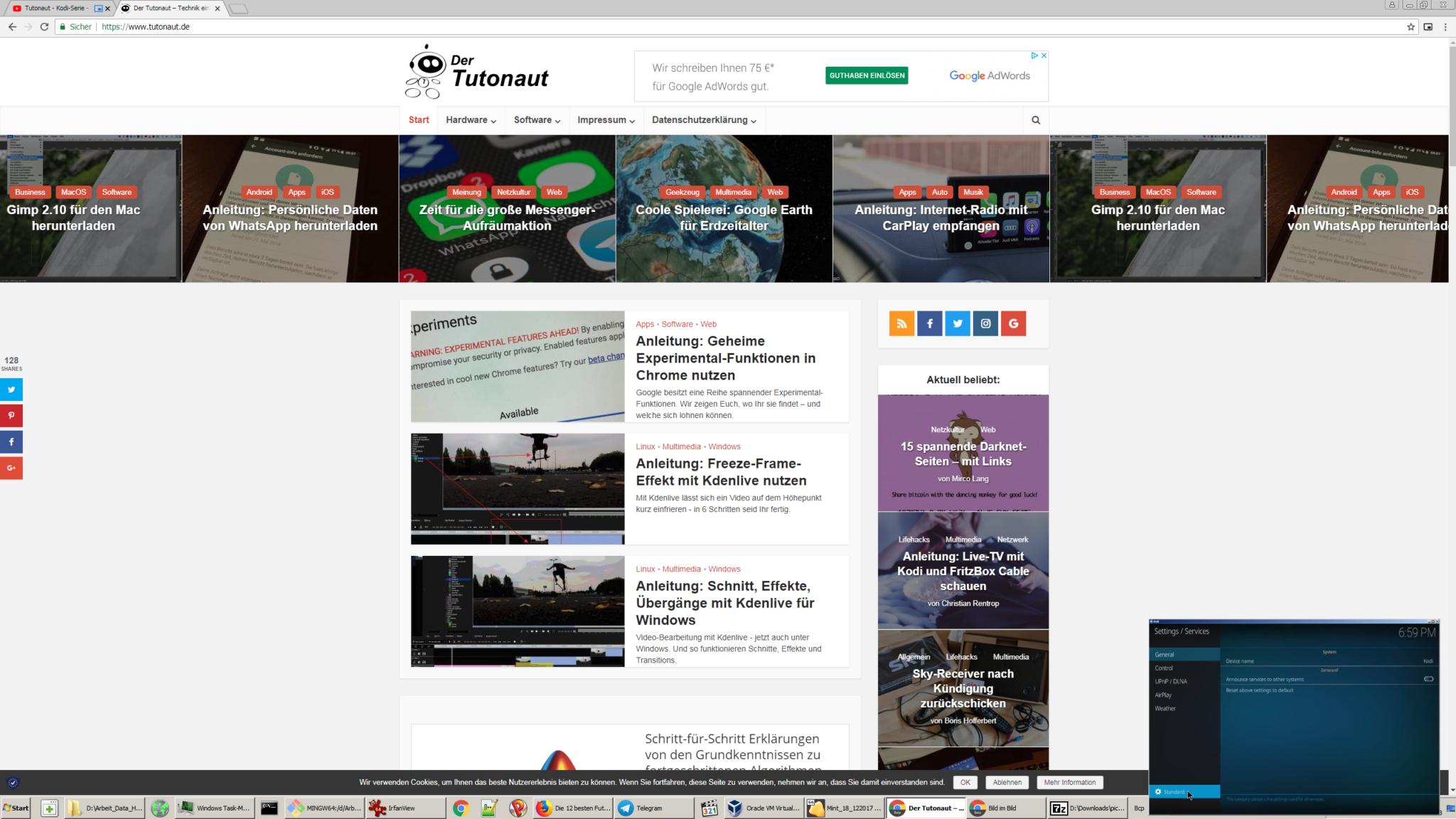 Bild-in-Bild-Funktion von Chrome 68