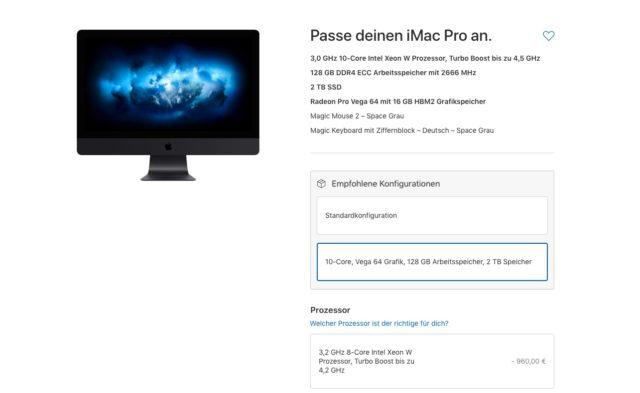 iMac Pro Konfiguration