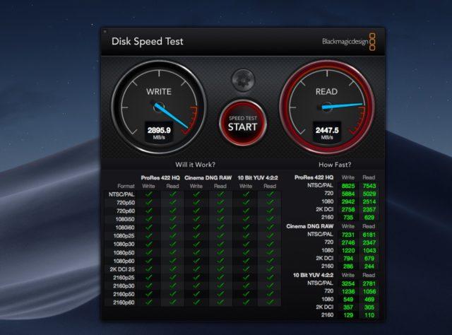 iMac Pro SSD Performance
