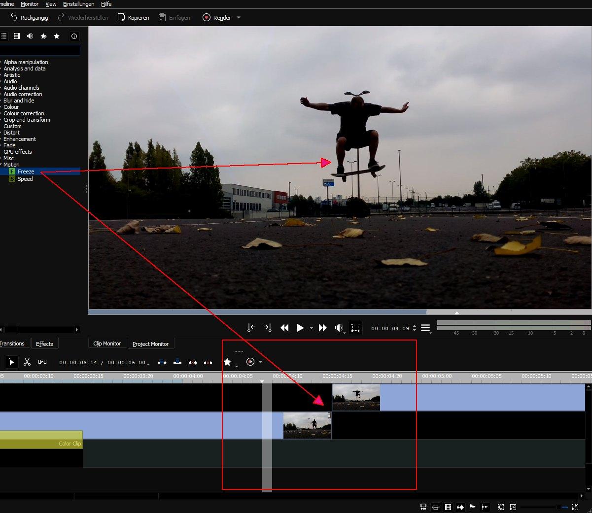 Anleitung: Freeze-Frame-Effekt mit Kdenlive nutzen - Der Tutonaut