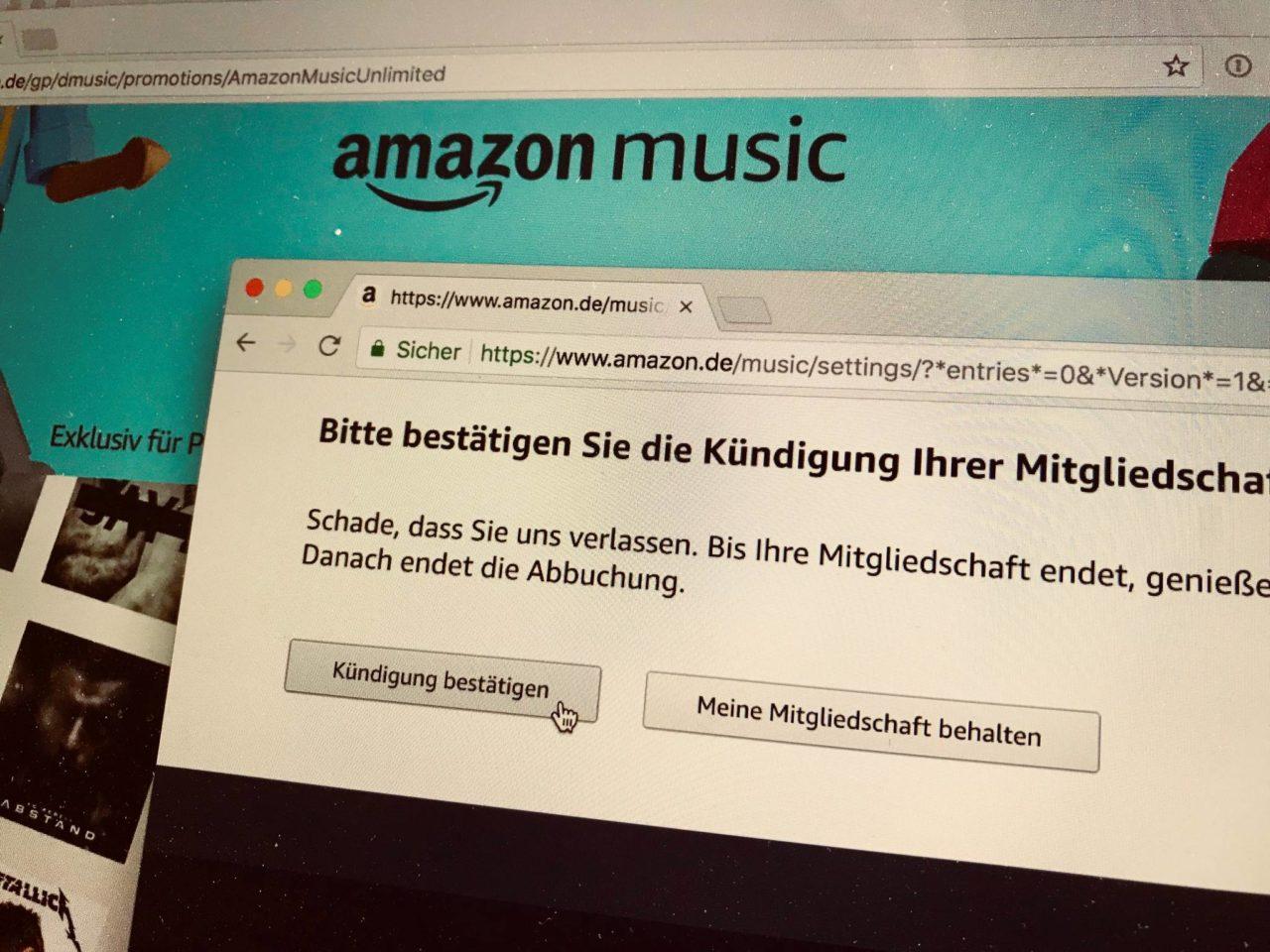 Amazon Music Unlimited Kündigen