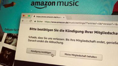 Bild von Amazon Music Unlimited kündigen