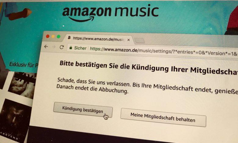 Amazon Abo beenden