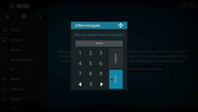 Bild von Anleitung: Kodi per Passwort oder PIN-Code schützen