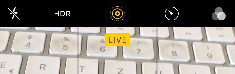 Live-Fotos erlauben stumme Aufnahmen am iPhone.